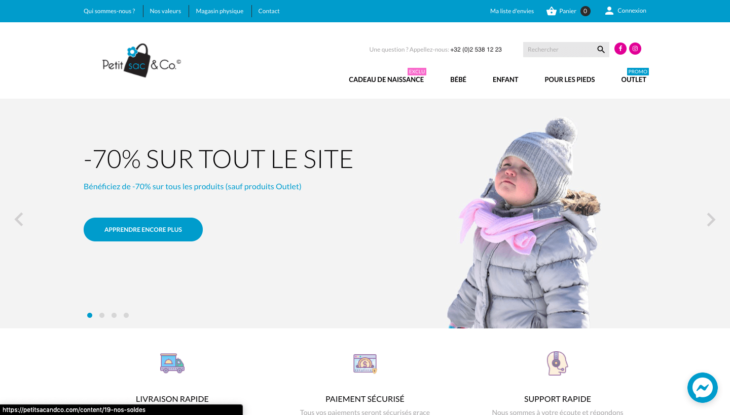 vired petitsacandco boutique e-commerce